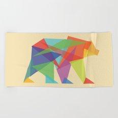 Fractal Geometric bear Beach Towel