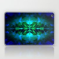 Blue columns in Abstract Laptop & iPad Skin