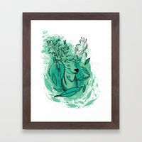 THE WOODS WHERE YOU LIVE. Framed Art Print