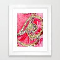 Pink Prom Framed Art Print