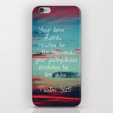 Your Love O Lord iPhone & iPod Skin