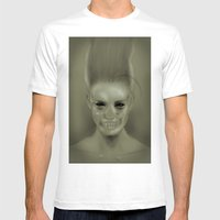Bride Of Frankenstein Mens Fitted Tee White SMALL
