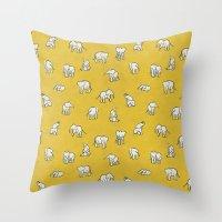 Indian Baby Elephants Throw Pillow