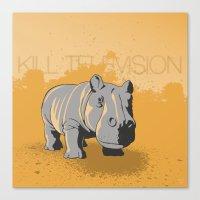 Kill Television Canvas Print