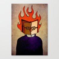 Prophets of Fiction - Ray Bradbury /Fahrenheit 451 Canvas Print
