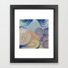 A Touch of Blue Framed Art Print