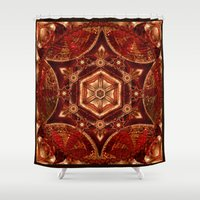 Meditation in Copper Shower Curtain