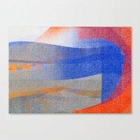 Blue With Orange Canvas Print