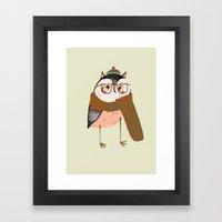 Owls Love Scarfs.  Framed Art Print