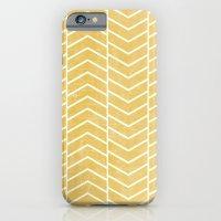 iPhone & iPod Case featuring Yellow Chevron by Zeke Tucker