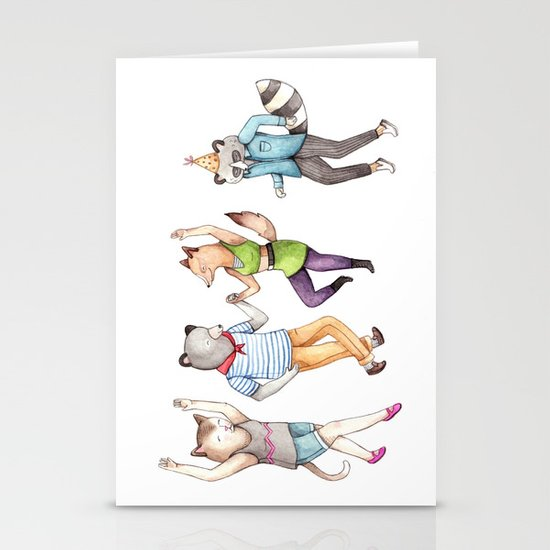 Party Animals Stationery Card