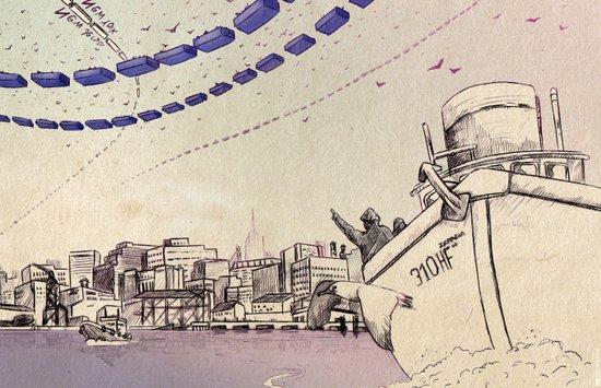 Routes Art Print