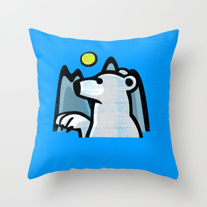 Polar Bear Throw Pillow : polar bear Throw Pillow by Jenapaul Society6