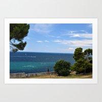 Croatia Seaside Art Print
