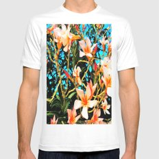 Flowers On Fire Mens Fitted Tee White SMALL