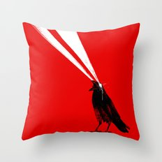 Laser Crow Throw Pillow