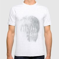 You Can't See Me Mens Fitted Tee Ash Grey SMALL