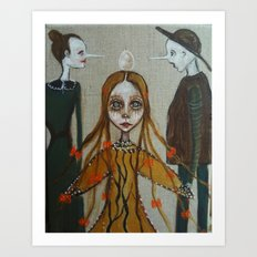 painting,modern folklore Art Print