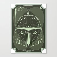 Boba Fett On Acid Canvas Print