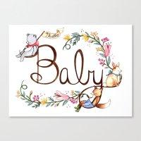 Hello Baby Canvas Print