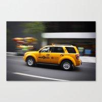 Follow that car Canvas Print