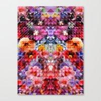Crystal Floral Canvas Print