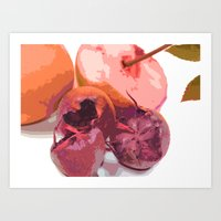 Fruits Abstract Purple Art Print