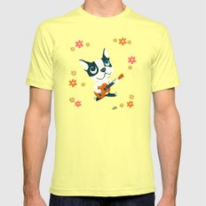 Boogie on Ukelele Lemon SMALL Mens Fitted Tee