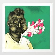 Haunted Fatso Art Print