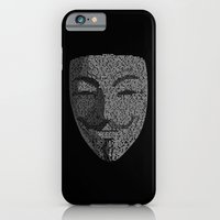 iPhone & iPod Case featuring ...You May Call Me 'V' – So who's Anonymous? by Andrew Treherne
