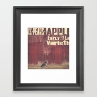 I told her we were going out for ice cream... Framed Art Print