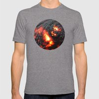 Flaming Seashell 4 Mens Fitted Tee Tri-Grey SMALL
