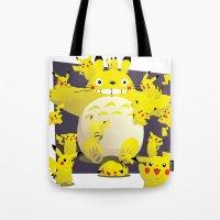 Totoro & Pikachu Tote Bag