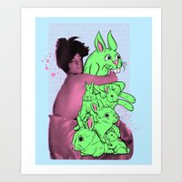 Bunny Pile Art Print