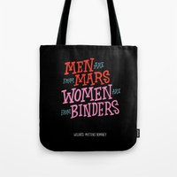 Men Are From Mars, Women Are From Binders Tote Bag
