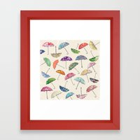 Umbrella & umbrellas Framed Art Print