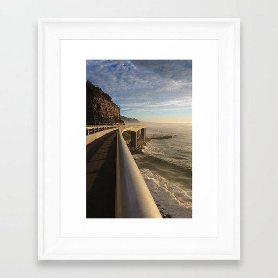 Railing Framed Art Print