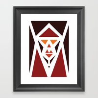 Five Triangle Faces - Th… Framed Art Print