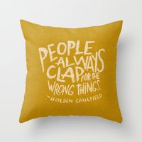 HOLDEN CAULFIELD ON APPL… Throw Pillow