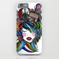 iPhone & iPod Case featuring Paris girl by Lera Razvodova