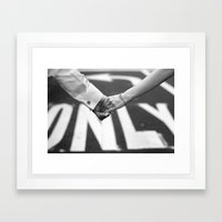 Hand In Hand | Love | Engagement Framed Art Print