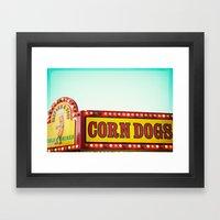 Corn Dogs Framed Art Print