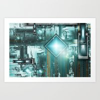TRON the next generation Art Print