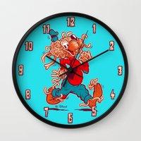THE FLYING SPAGHOOFY MON… Wall Clock