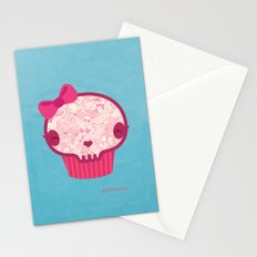 Cupcake Skull Stationery Cards