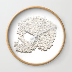 303. A Skull of Letters Wall Clock