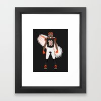 Who Dey? - A.J. Green Framed Art Print