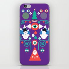Christmas - purple pop iPhone & iPod Skin
