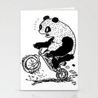 Dirt Jump Panda Stationery Cards