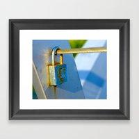 Love Locks 2012 40 Framed Art Print